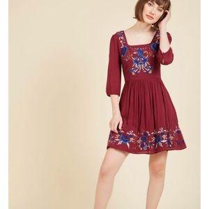 ModCloth Blue Skies for Me Mini Dress